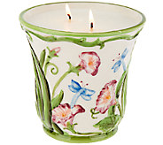 Temp-tations 23 oz. Ceramic Dragonfly Planter Candle - H205170