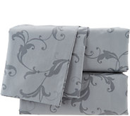 Casa Zeta-Jones 400TC 100Cotton Printed Scroll Sheet Set - H214670