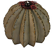 Desert Steel Golden Barrel Cactus Garden Tiki Torch, Large - H284570