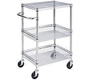 Honey-Can-Do 3-Tier Chrome Urban Utility Cart - H356470