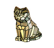 Tiffany Style Cat Accent Lamp - H58170