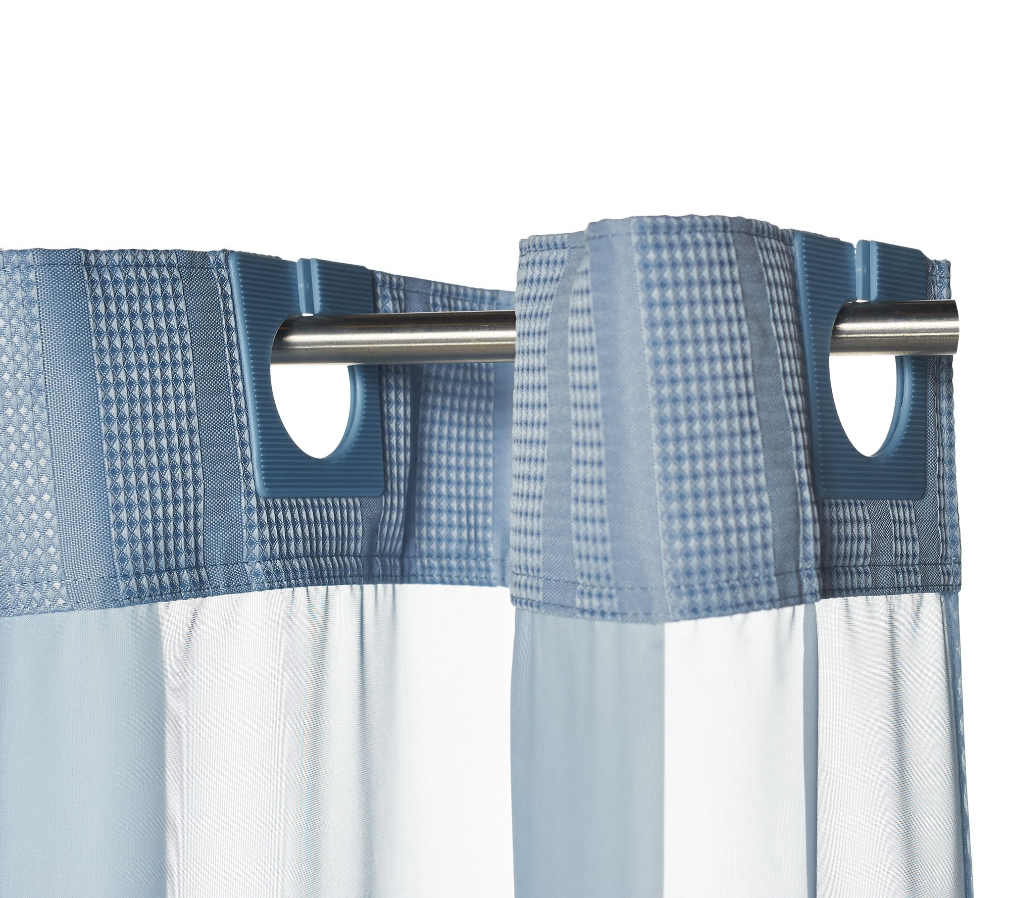 Ez-On by Hookless Jacquard Stripe 3-in-1 Shower Curtain - Page 1 ...