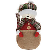 Oversized Mom or Dad Snowman with Plaid Scarf by Valerie - H216471