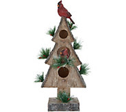 17 Birdhouse with Cardinals by Valerie - H216871
