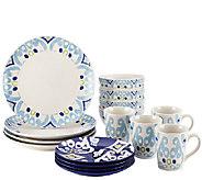 Rachael Ray Dinnerware Ikat 16-Piece StonewareSet - H286771