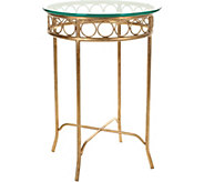 Asa Glass Top Round Accent Table by Valerie - H296471