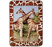 Shavel Hi Pile 60 x 80 Giraffes Luxury Throw - H301371