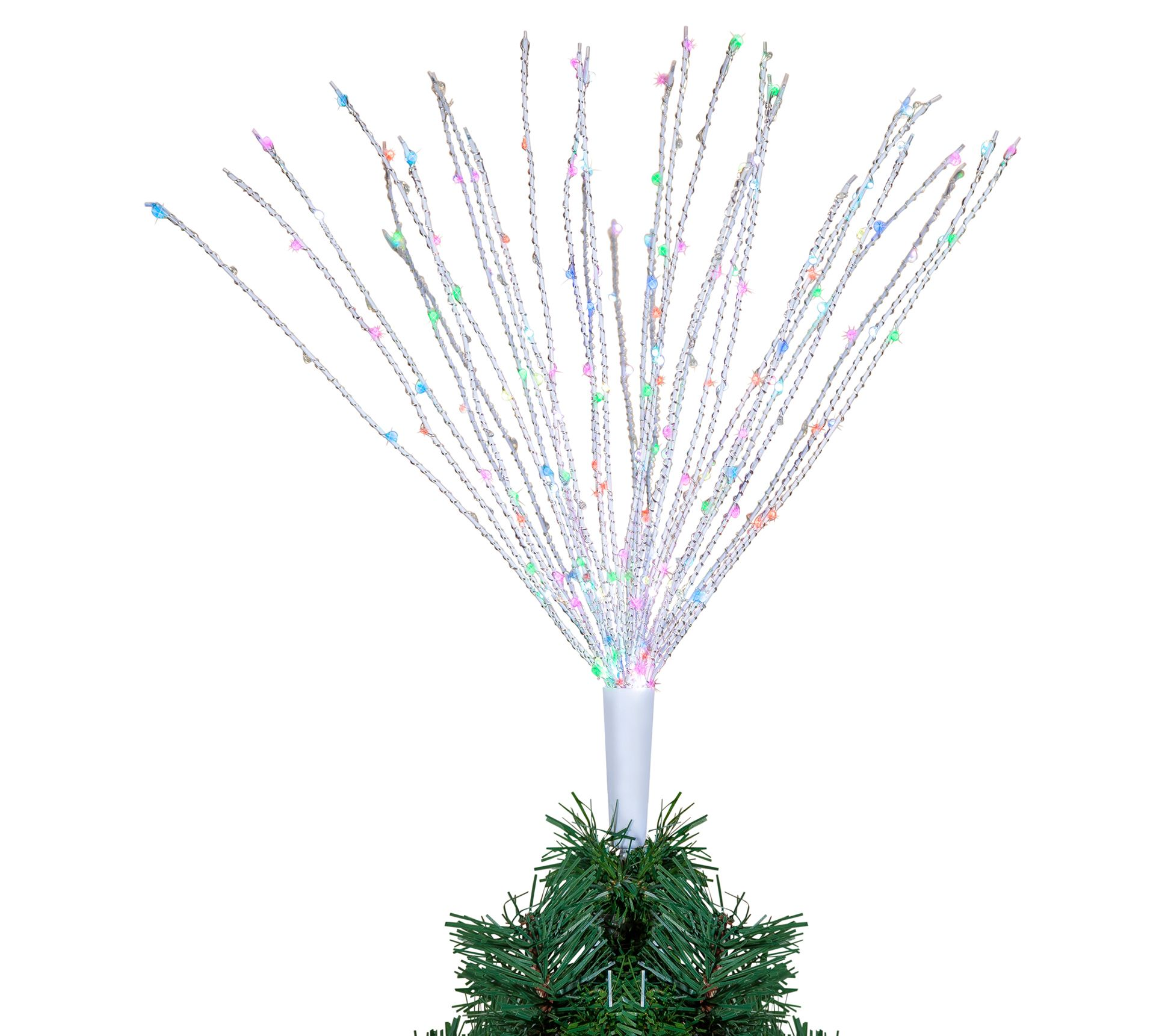 22 H Wire Starburst Color Changing Tree Topper Qvc Com