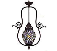 Tiffany Style 7W Fishscale Pendant Light - H181372
