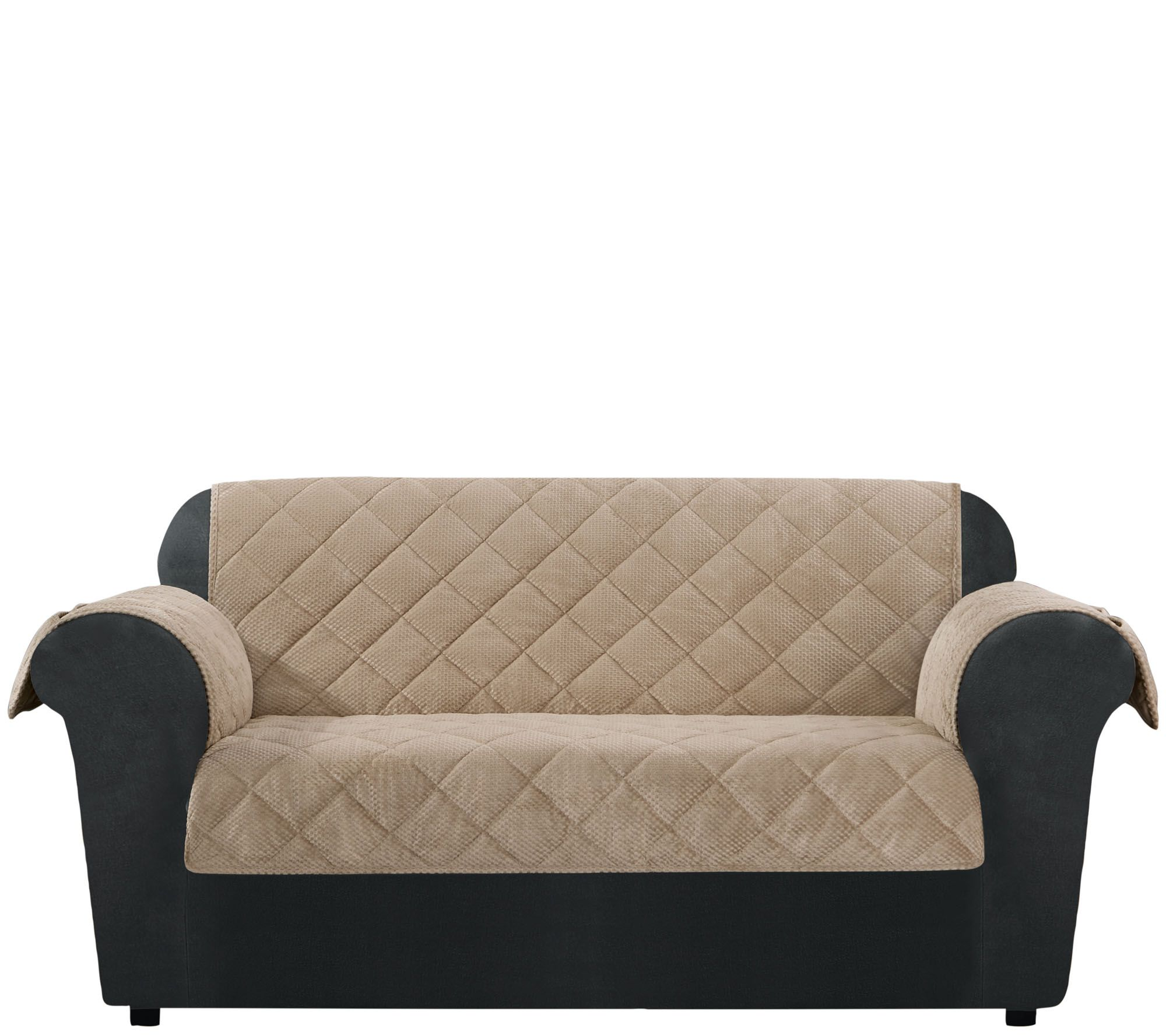 Sure Fit Loveseat Furniture Cover with Textured Pique Fabric
