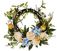Hydrangea Berry and Rose Wreath - H210872