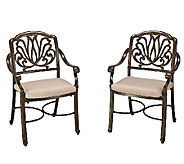 Home Styles Floral Blossom Taupe Arm Chair - Set of 2 - H284372