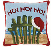 Mina Victory Ho Ho Ho Multicolor 18 x 18 Throw Pillow - H301672