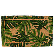 Palm Leaves Natural Coir Doormat with Nonslip Back - H313672