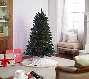 Santas Best Starry Light 5 Green Multi-Function Microlight Tree - H215273