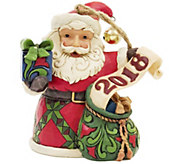 Jim Shore Heartwood Creek Exclusive Dated 2018 Santa Ornament - H216173