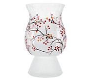 Lightscapes Crackle Glass Hurricane with Flameless Candle - H217473