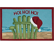 Nourison Everywhere 18 x 26 Christmas BeachChair Rug - H293073