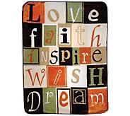 Shavel Hi Pile 60 x 80 Love Faith Inspire Luxury Throw - H301373