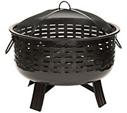 Landmann Fireglow Porcelain Fire Pit With Cover - H302073