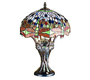 Tiffany Style 17H Dragonfly Mosaic Base AccentLamp - H181374