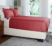 Scott Living Diamond Stitched Coverlet with Shams - H208674