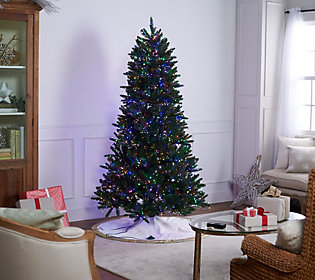 Santas Best Christmas Trees.Santa S Best Starry Light Green Or Flocked Led Christmas