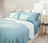 Casa Zeta-Jones Reversible Full Cotton Coverlet Set w/ Scalloped Edge - H216074