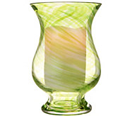 Lightscapes Art Glass Hurricane with Lightscapes Candle - H217474