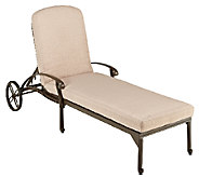 Home Styles Outdoor Floral Blossom Taupe ChaiseLounge Chair - H284374