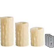Luminara 5, 7 & 9 Wax Drip Flameless Candlesw/ Remotes - H292374