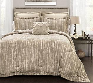 Rustic Stripe 6-Piece Full/Queen  Comforter Set by
