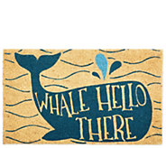 Whale Hello There Natural Coir Doormat with Nonslip Back - H313574