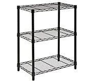 Honey-Can-Do 3-Tier Black Steel Urban Adjustable Shelving Uni - H356974