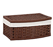 Household Essentials Paper Rope Curved Basket -Stained Finish - H157275