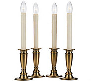 As Is Set of 4 Window Candles with Timer by Valerie - H207275