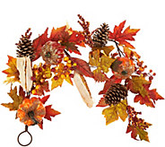 4 Beaded Pumpkin, Corn, and Pinecone Garland - H212675