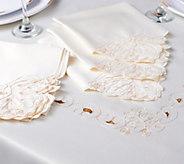 Casa Zeta-Jones Lasercut 70x80 Embroidered Tablecloth w/ 6 Napkins - H213175