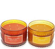 HomeWorx by Harry Slatkin Set of 2 18-oz Townhouse 4-Wick Candles - H215775