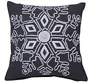 18 x 18 Winter Snowflake Pillow by Vickerman - H301275
