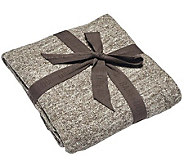 Barefoot Dreams Cozychic Lite Heathered Cable Blanket - H302275