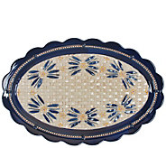 Temp-tations Old World Basketweave 18 Oval Platter - H303275