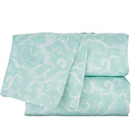 Casa Zeta-Jones 100Tencel Printed Damask Sheet Set - H215176