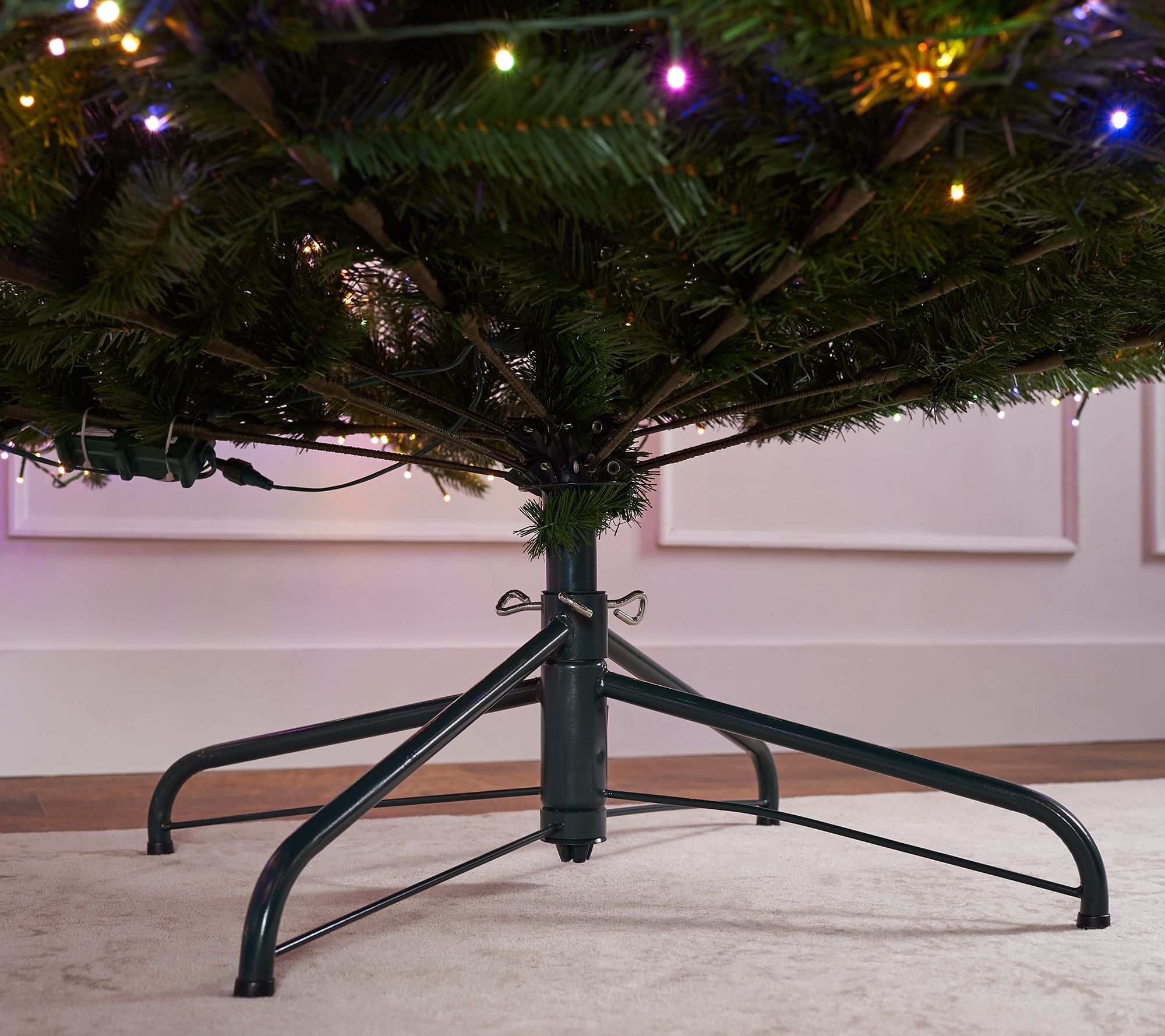 Santas Best Starry Light 9 Green Multi Function Microlight Tree Qvccom
