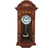 Bedford Clock 27.5 Padauk Oak Finish Chiming Wall Clock - H292276