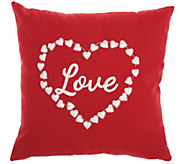 Mina Victory Love & Heart Red 18 x 18 Throw Pillow - H301676