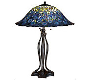 Tiffany Style 30 Peacock Feathers Table Lamp - H122477