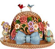 Jim Shore Heartwood Creek Lit Easter Bonnet Figurine - H213577