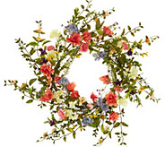 22 Wildflower Blossom Wreath by Valerie - H213777