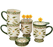 Temp-tations Old World Set of 4 Mugs with Lid-It & Spoon - H214677